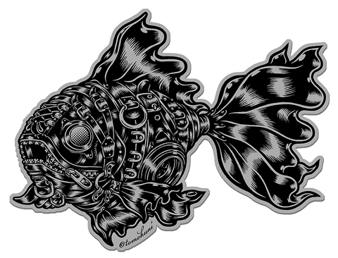 『Black GoldFish』ステッカー