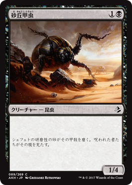 砂丘甲虫/Dune Beetle/AKH-089/C/黒