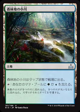 森林地の小川/Woodland Stream/RIX-191/U/土地/スタンダード