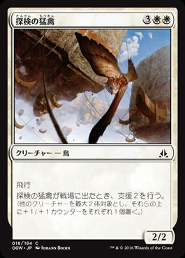 探検の猛禽/Expedition Raptor/OGW-018/C/白