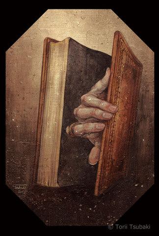 ポストカード「本を開く」