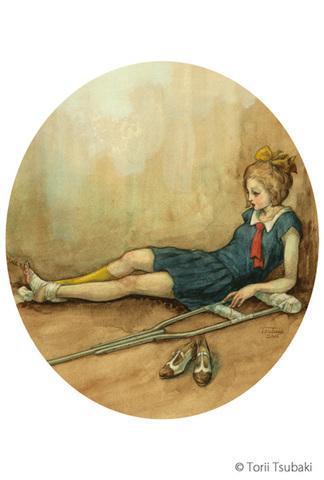 ポストカード「お気に入りの靴が履けない」