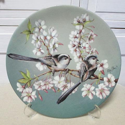 飾り皿!エナガ