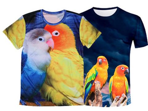 メンズTシャツ!転写!インコ