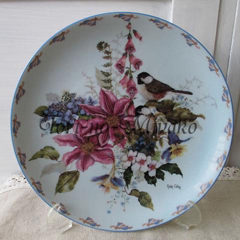 飾り皿!コゲラ・穏やかなる巣籠り