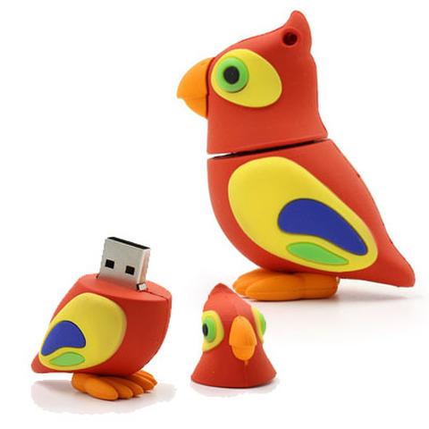 USBメモリー!オウム