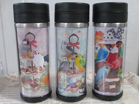 <オリジナル>ステンレスボトル!鳥の集まり・2柄
