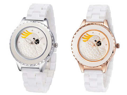 デザイン腕時計!オウム