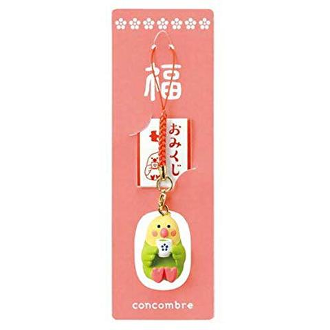 <DECOLE>根付マスコット(おみくじ付き)!日本茶インコ