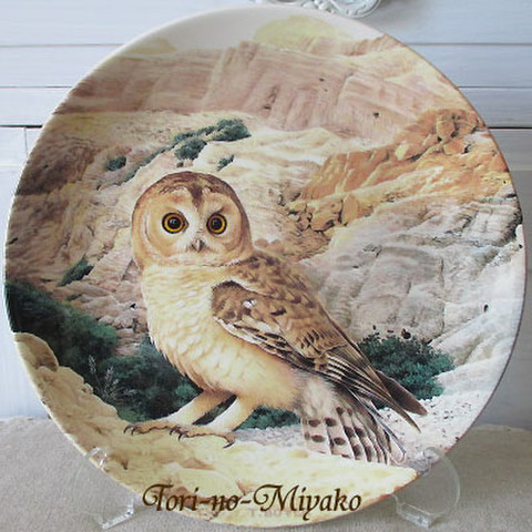 <WEDGWOOD>飾り皿!梟の王者・モリフクロウ