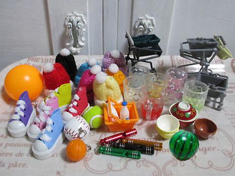 <鳥の知育系おもちゃ>ショッピングカート用小物5点セット