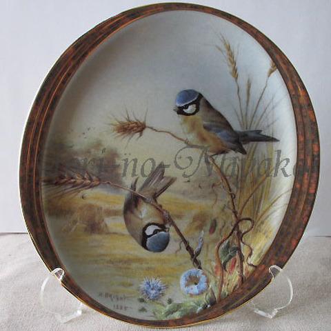 飾り皿!アオガラ