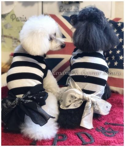 おパンツスタイル用モノトーントップス 手作りワンコ服