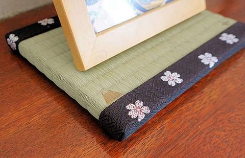 招福縁起柄ミニ畳~富士と桜~
