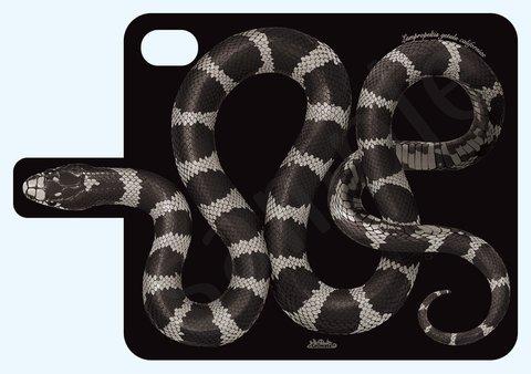 カリフォルニアキングスネーク手帳型iPhoneケース 6plus,6splus用