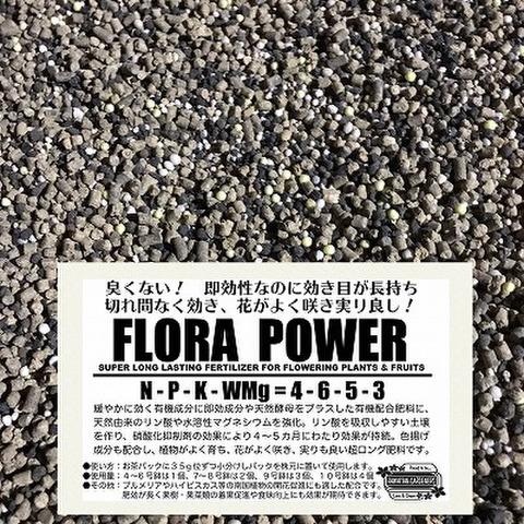 【臭わない画期的な超ロング肥料!】南国の花がよく咲き、果実がおいしく実る有機配合肥料『FLORA POWER 』お得な1.5kg原体・南国の花や草花、果樹・果菜類など広範囲な植物に良く効く長効き肥料