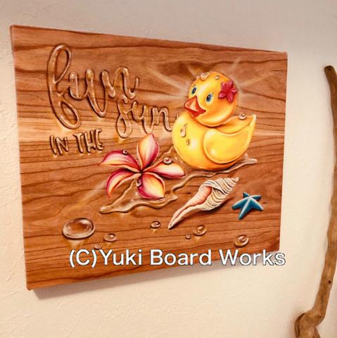 【2019年新リリース】YUKI BOARD WORKSさんのチョークアート・キャンバスプリント Rubber Duck