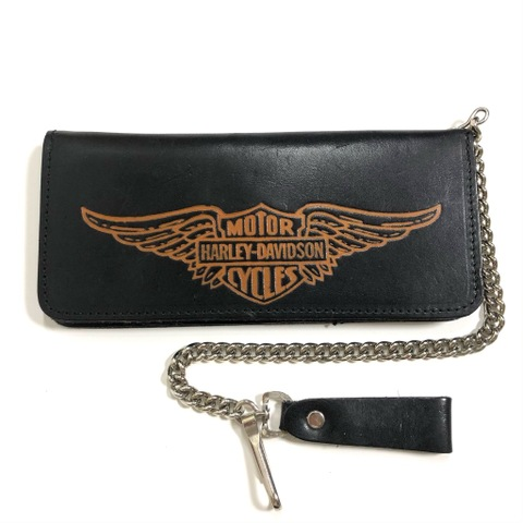 "~80s Harley-Davidson. ""DEAD-STOCK"" BIKER WALLET."
