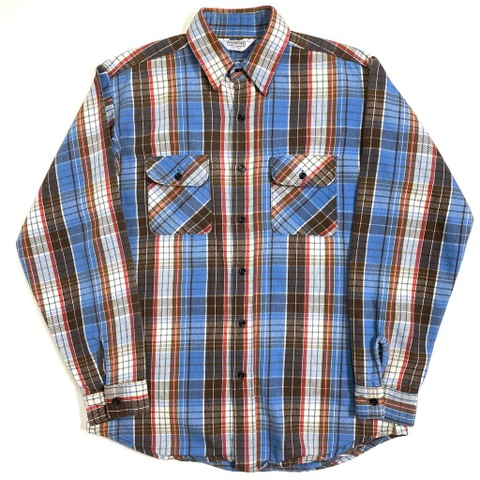 80s FIVE BROTHER HEAVYNEL SHIRT.