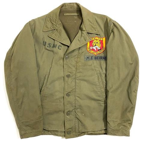 "40s U.S.NAVY ""U.S.M.C."" N-4 JACKET."