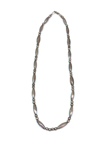 80s NAVAJO SILVER BEADS CHAIN.