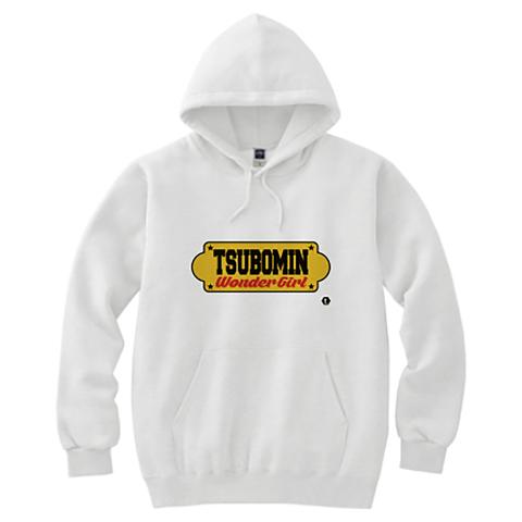 TSUBOMIN / YELLOW SIGNBOARD HOODED SWEATSHIRT WHITE