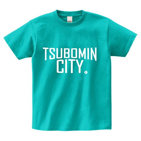 TSUBOMIN / TSUBOMIN CITY T-SHIRT PEACOCK-GREEN