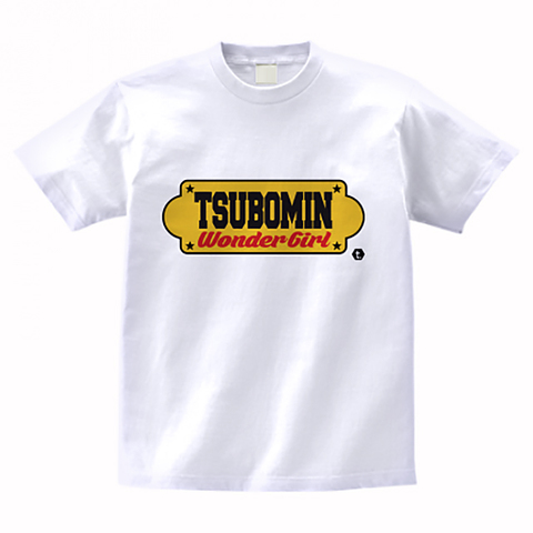 TSUBOMIN / YELLOW SIGNBOARD T-SHIRT WHITE