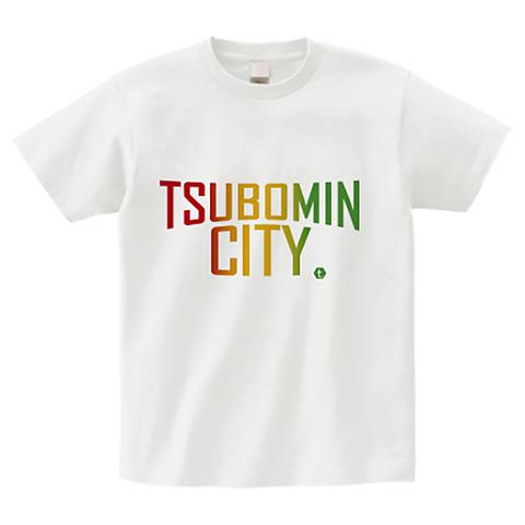 TSUBOMIN / TSUBOMIN CITY T-SHIRT WHITE-RASTA