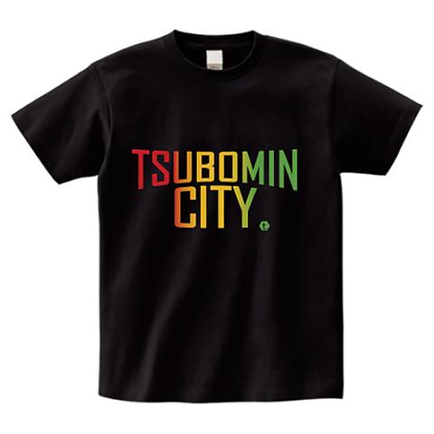 TSUBOMIN / TSUBOMIN CITY T-SHIRT BLACK-RASTA