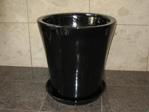 hc-1002 陶器(黒)【適用鉢サイズ:10号】