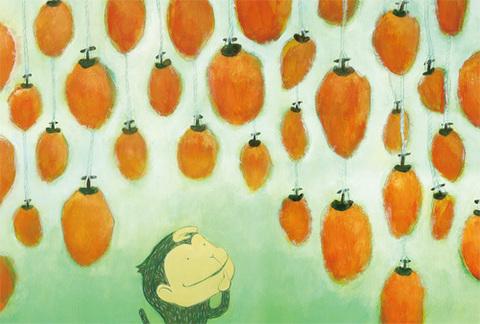 「干し柿」ポストカード