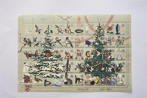デンマーク クリスマスシール 1961