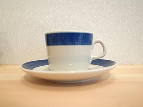 Rorstrand Koka  ブルー コーヒーカップ&ソーサ