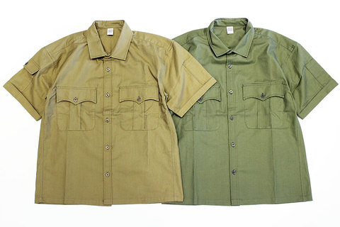 "COMFORTABLE REASON (コンフォータブルリーズン) "" Panama cloth Safari shirts """