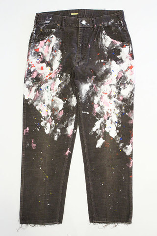 "CHANGES (チェンジーズ) "" Remake Paint Corduroy Pants """