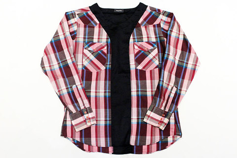 "HURRAY HURRAY (フレイ フレイ) composition "" Remake P/O Western Check Shirts """