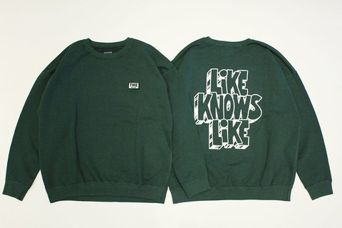 "THE FABRIC (ザ・ファブリック) "" LIKE KNOWS LIKE CREW SWEAT "" Exclusive"