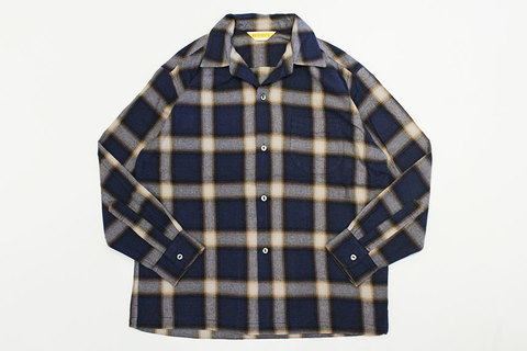 "PENNY'S (ペニーズ) "" ombre check open shirts """