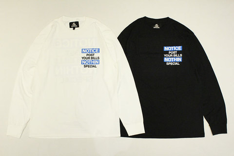 """NOTHIN'SPECIAL (ナッシンスペシャル) """" NOTICE LONG SLEEVE """""""