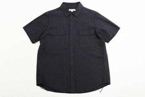 "Ordinary fits (オーディナリーフィッツ) "" WORK SHIRT S/S "" seersucker"
