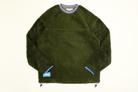 "BUTTER GOODS (バターグッズ) "" SHERPA PULLOVER CREWNECK """