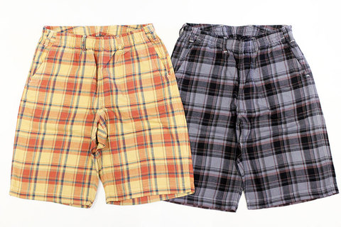 "THE FABRIC (ザ・ファブリック) "" ROLLUP CHECK SHORTS """