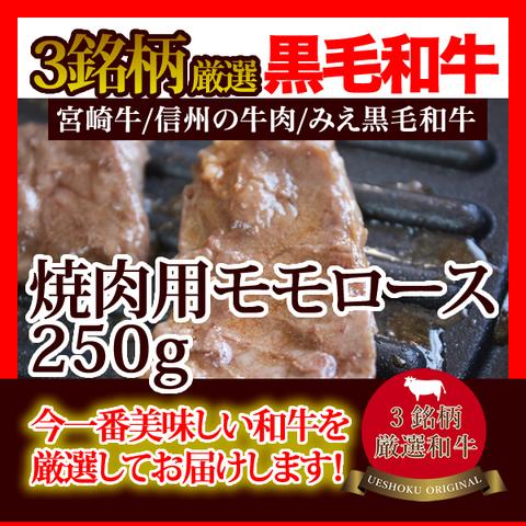 3銘柄厳選和牛焼肉用モモロース<250g>