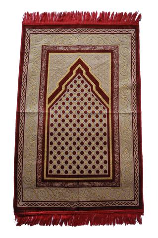 イスラム教礼拝用敷物(レッド) アウトレット品