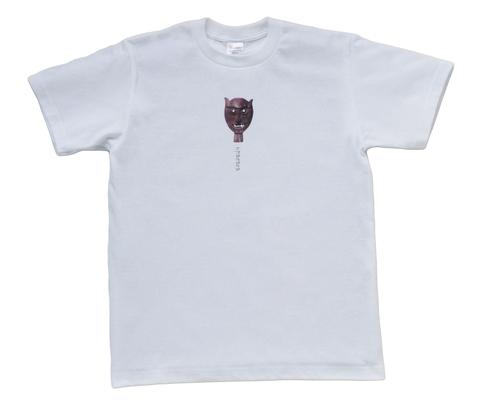 upacara うぱちゃら オリジナル ワンポイント ロゴ入り ティモールマスク 半袖Tシャツ_002 ホワイト 男女兼用S/M/L