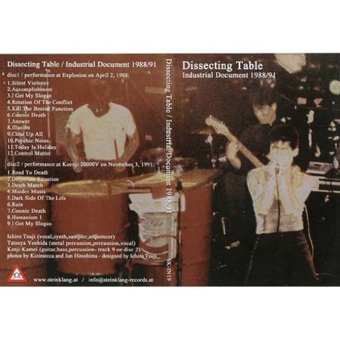 dissecting table/industrial document 1988/91