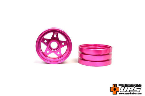 【t4works】ハイブリッドビレットアルミホイール フロント【ホーネット・グラスホッパー用】 ピンク