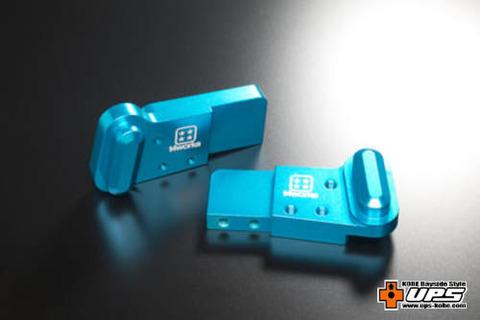 【t4works】ビレットハンガー(8mmロング) ホーネット用 ライトブルー