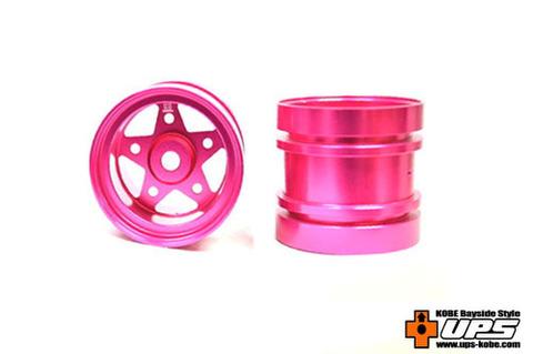 【t4works】ハイブリッドビレットアルミホイール リア【ホーネット・グラスホッパー用】 ピンク